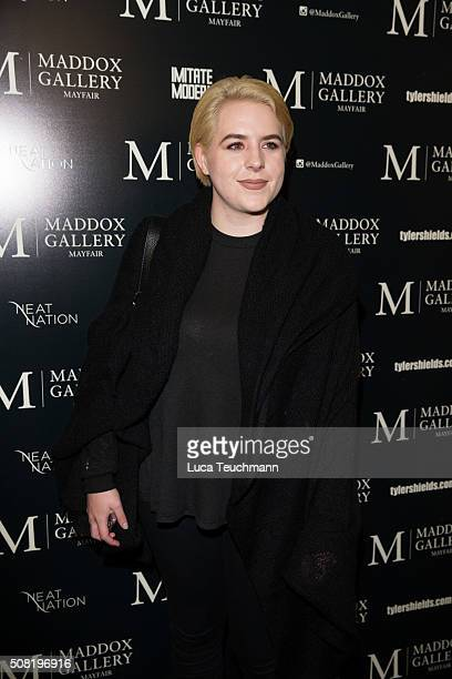 Bella Cruise attends the private view of Tyler Shields Decadence at Maddox Gallery on February 3 2016 in London England