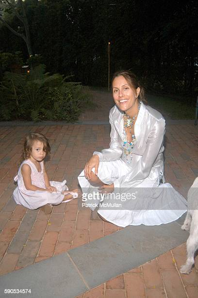 Bella Cuomo and Cristina Cuomo attend Nacho and Delfima Figueras Party at Jeffrey Sachs Home on August 21 2005 in Southampton NY