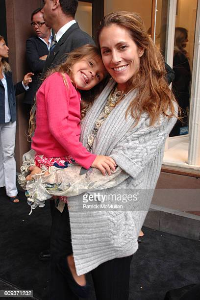 Bella Cuomo and Cristina Greeven Cuomo attend BONPOINT Celebrates the Bleecker Street Store Opening at Bonpoint on September 17 2007 in New York City