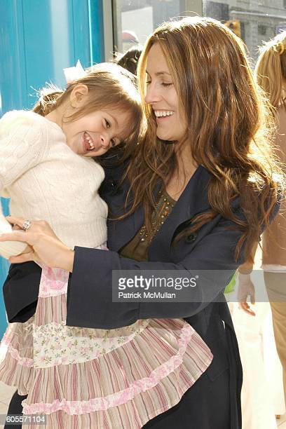 Bella Cuomo and Cristina Greeven Cuomo attend LENOX HILL NEIGHBORHOOD HOUSE Kid's In Candyland at Dylan's Candy Bar on May 22 2006 in New York City