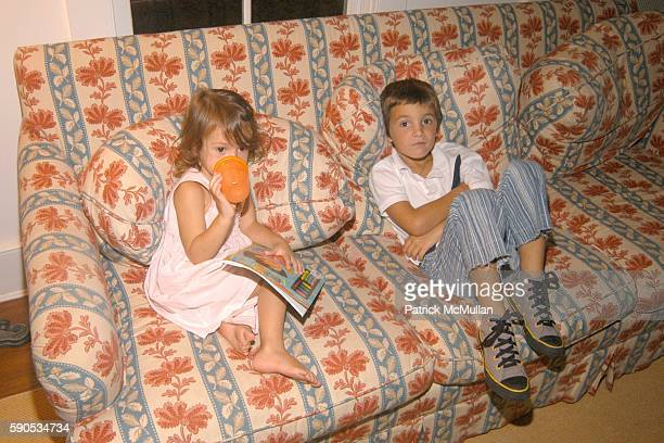 Bella Cuomo and Hilario Figueras attend Nacho and Delfima Figueras Party at Jeffrey Sachs Home on August 21 2005 in Southampton NY