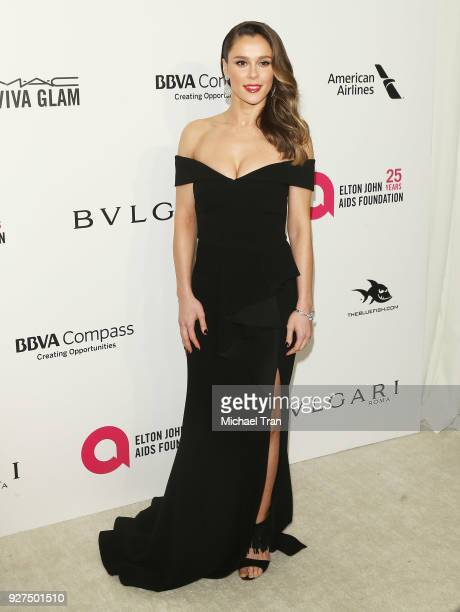 Bella Dayne arrives to the 26th Annual Elton John AIDS Foundation's Academy Awards Viewing Party held at West Hollywood Park on March 4 2018 in West...