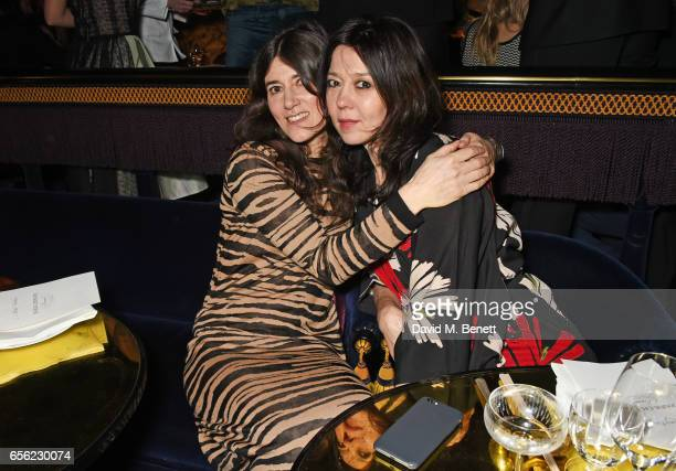 Bella Freud and Katy England attend the Another Man Spring/Summer Issue launch dinner in association with Kronaby at Park Chinois on March 21 2017 in...
