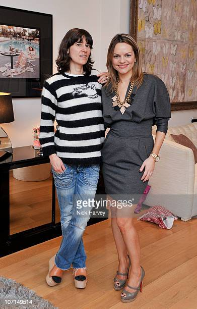 Bella Freud and Maria Hatzistefanis attend the Bella Freud trunk show hosted by Maria Hatzistefanis of Rodial cosmetics on November 25 2010 in London...