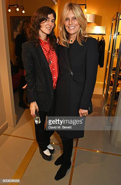 Bella Freud and Patti Hansen attend the Bella Freud store launch in Marylebone on December 9 2015 in London England