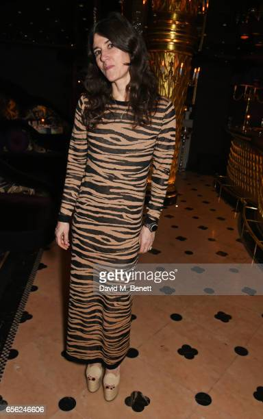 Bella Freud attends the Another Man Spring/Summer Issue launch dinner in association with Kronaby at Park Chinois on March 21 2017 in London England