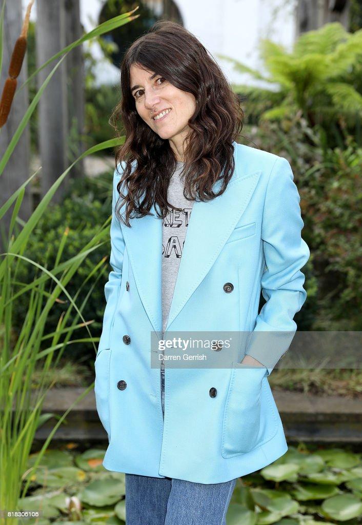 Bella Freud attends the J Brand x Bella Freud garden tea party on July 18, 2017 in London, England.