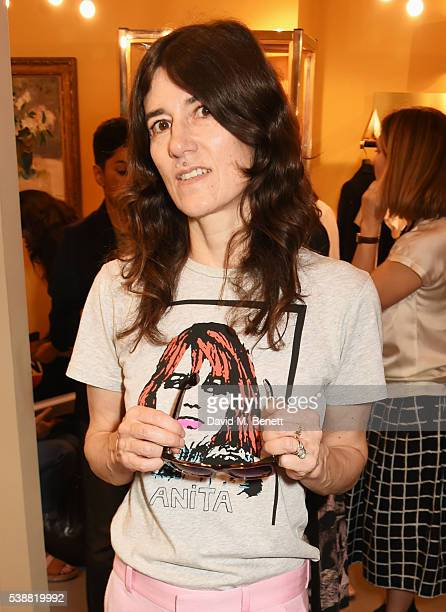 Bella Freud attends the launch of her numbered edition collection of sunglasses with Cutler Gross at her Chiltern Street store on June 8 2016 in...