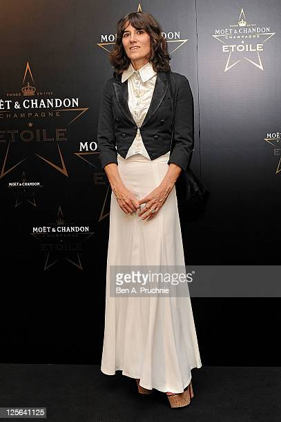 Bella Freud attends the Moet Chandon Etoile award ceremony to honour Mario Testino for his contribution to cultural society at Park Lane Hotel on...