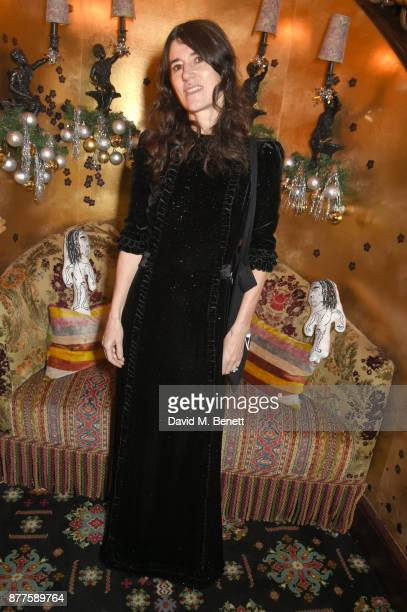 Bella Freud attends the Nick Cave The Bad Seeds x The Vampires Wife x Matchesfashioncom party at Loulou's on November 22 2017 in London England