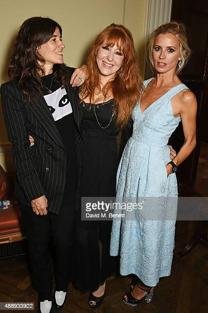 Bella Freud Charlotte Tilbury and Laura Bailey attend the London Fashion Week party hosted by Ambassador Matthew Barzun and Mrs Brooke Brown Barzun...