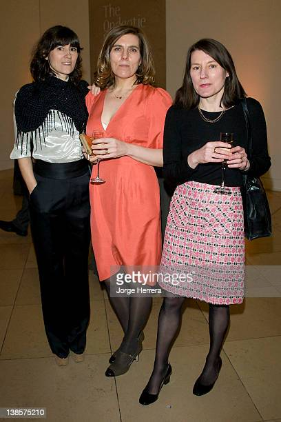 Bella Freud, Esther Freud and Anna Freud attend the Lucian Freud Portraits exhibition at the National Portrait Gallery on February 8, 2012 in London,...