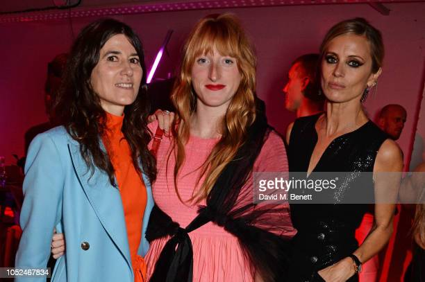 Bella Freud Molly Goddard and Laura Bailey attend the Big Up Uganda fundraising gala for Save The Children hosted by Adwoa Aboah Felix Cooper at Wild...