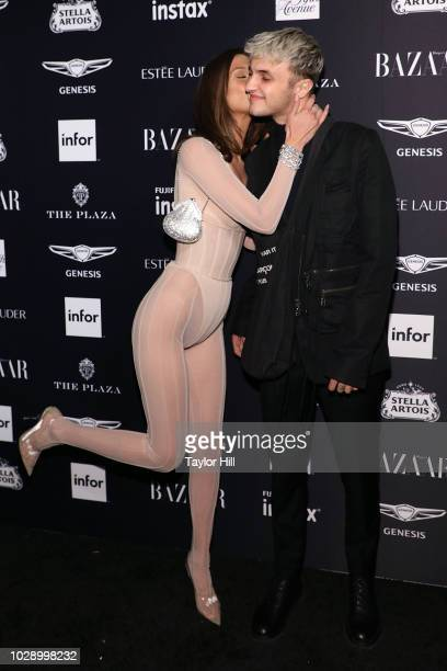 Bella Hadid and Anwar Hadid attend the 2018 Harper's Bazaar ICONS Party at The Plaza Hotel on September 7 2018 in New York City