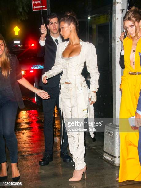 Bella Hadid and Gigi Hadid are seen on September 09 2018 in New York City