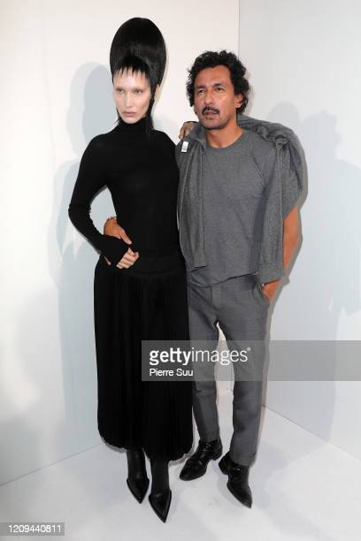Bella Hadid and Haider Ackermann are seen backstage at the Haider Ackermann Womenswear Fall/Winter 2020/2021 show as part of Paris Fashion Week on...