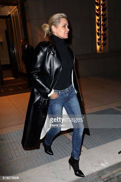 Bella Hadid and her mother Yolanda leave their apartment on Valentine's Day on February 14 2018 in New York City