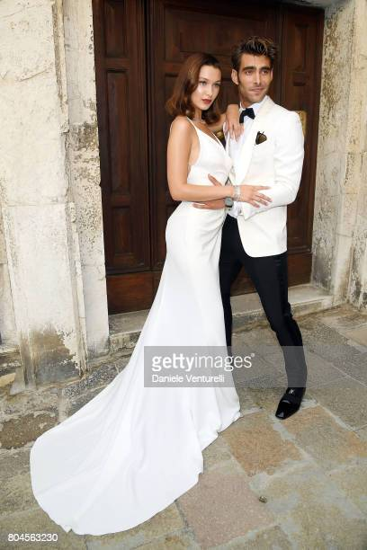 Bella Hadid and Jon Kortajarena attend Bvlgari Party at Scuola Grande della Misericordia on June 30 2017 in Venice Italy