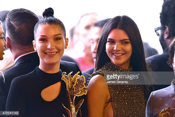 Bella Hadid and Kendall Jenner leave the 'China Through The Looking Glass' Costume Institute Benefit Gala at Metropolitan Museum of Art on May 4 2015...