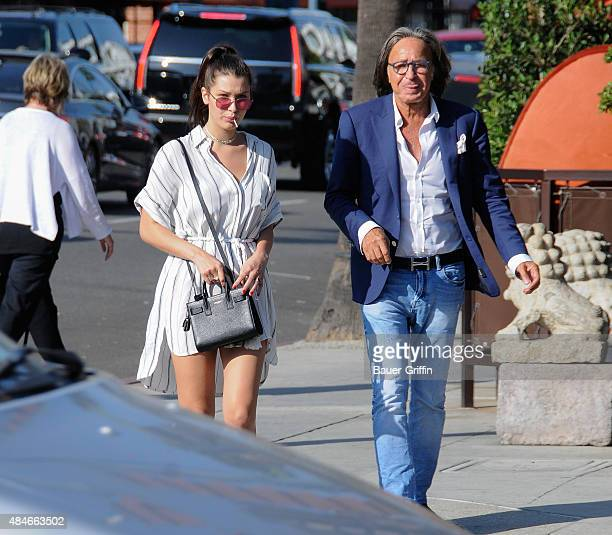 Bella Hadid and Mohamed Hadid are seen on August 20 2015 in Los Angeles California
