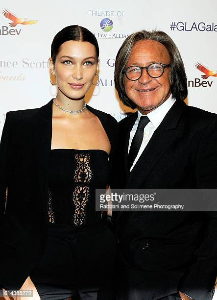 Bella Hadid and Mohamed Hadid arrive at the Global Lyme Alliance's 2016 United For A LymeFree World Gala at Cipriani 42nd Street on October 13 2016...