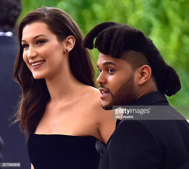 Bella Hadid and The Weeknd are seen on May 2 2016 in New York City
