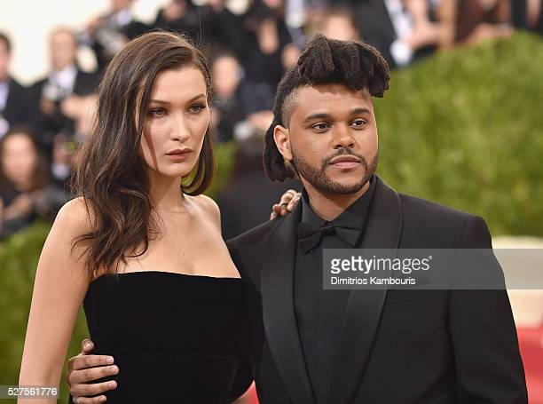 Bella Hadid and The Weeknd attend the 'Manus x Machina Fashion In An Age Of Technology' Costume Institute Gala at Metropolitan Museum of Art on May 2...