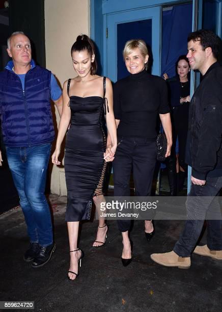 Bella Hadid and Yolanda Hadid seen on the streets of SoHo on October 9 2017 in New York City