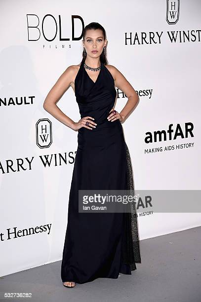 Bella Hadid arrives at amfAR's 23rd Cinema Against AIDS Gala at Hotel du CapEdenRoc on May 19 2016 in Cap d'Antibes France