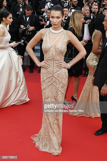 Bella Hadid arrives at 'Cafe Society' Opening Gala of the 69th Annual Cannes Film Festival on May 11 2016 in Cannes