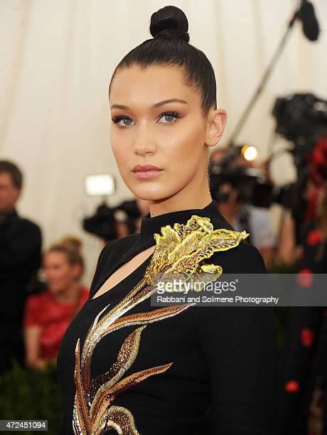 Bella Hadid arrives at China Through The Looking Glass Costume Institute Benefit Gala at the Metropolitan Museum of Art on May 4 2015 in New York City