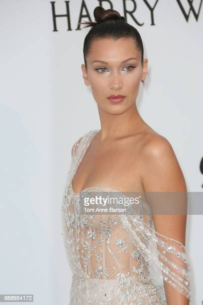 Bella Hadid arrives at the amfAR Gala Cannes 2017 at Hotel du CapEdenRoc on May 25 2017 in Cap d'Antibes France