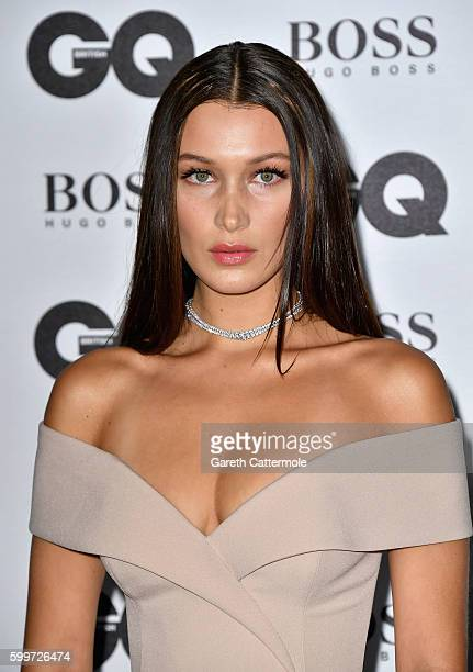 Bella Hadid arrives for GQ Men Of The Year Awards 2016 at Tate Modern on September 6 2016 in London England