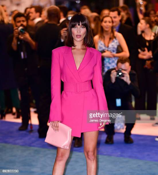 Bella Hadid arrives to the 2017 CFDA Fashion Awards at Hammerstein Ballroom on June 5 2017 in New York City