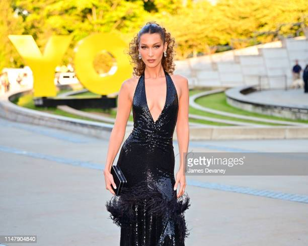 Bella Hadid arrives to the 2019 CFDA Fashion Awards at Brooklyn Museum on June 3 2019 in New York City