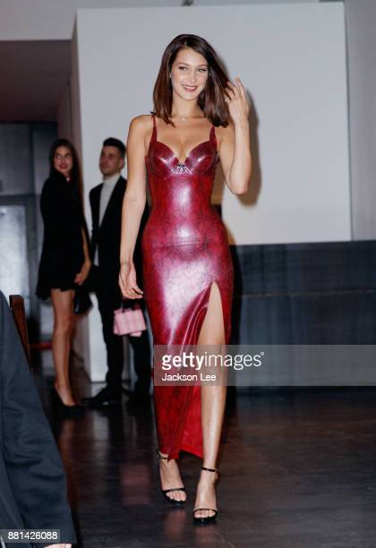 Bella Hadid at Victoria's Secret Viewing Party at Spring Studios on November 28 2017 in New York City