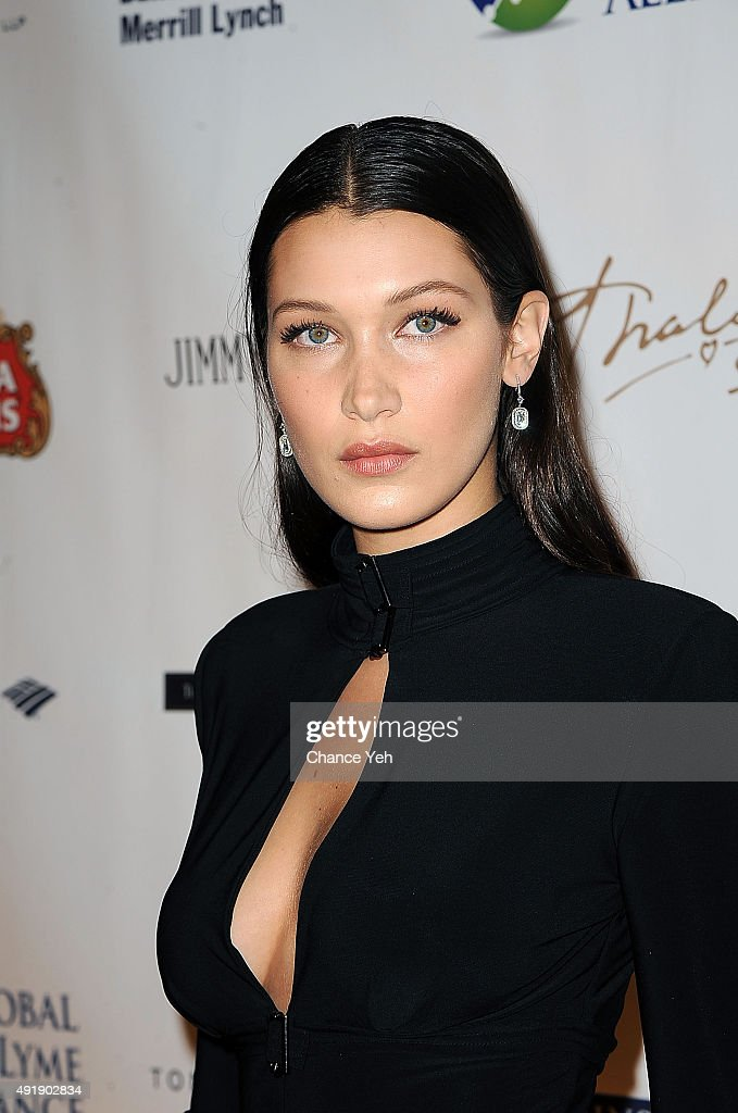 Bella Hadid attends 2015 Global Lyme Alliance Gala at Cipriani 42nd Street on October 8, 2015 in New York City.