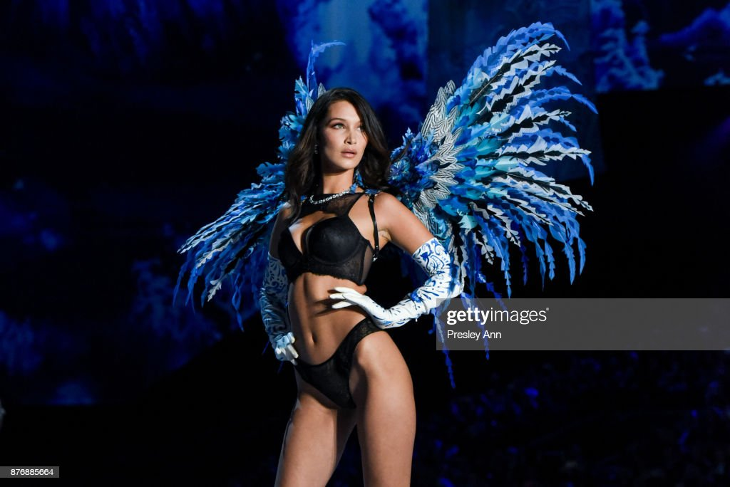 Bella Hadid attends 2017 Victoria's Secret Fashion Show In Shanghai - Show at Mercedes-Benz Arena on November 20, 2017 in Shanghai, China.