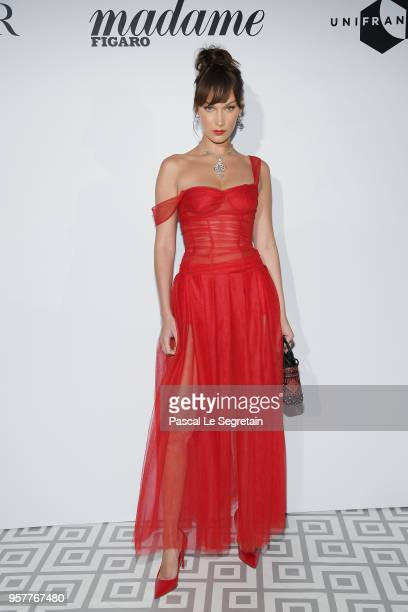 Bella Hadid attends a Dior dinner during the 71st annual Cannes Film Festival at JW Marriott on May 12, 2018 in Cannes, France.