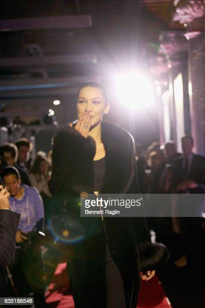 Bella Hadid attends A Fresh New Face For TAG Heuer at Equinox Bond Street on February 13 2017 in New York City