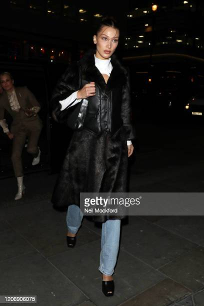 Bella Hadid attends a Love Magazine signing at Dover St Market during LFW February 2020 on February 17 2020 in London England