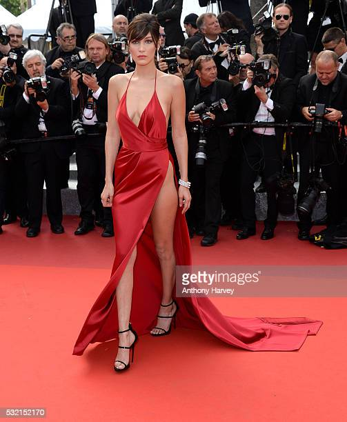 """Bella Hadid attends a screening of """"The Unknown Girl """" at the annual 69th Cannes Film Festival at Palais des Festivals on May 18, 2016 in Cannes,..."""