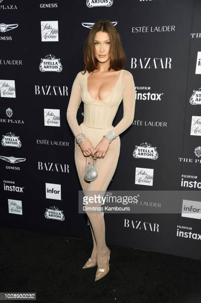 Bella Hadid attends as Harper's BAZAAR Celebrates ICONS By Carine Roitfeld at the Plaza Hotel on September 7 2018 in New York City