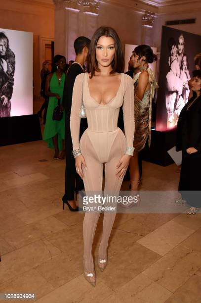 """Bella Hadid attends as Harper's BAZAAR Celebrates """"ICONS By Carine Roitfeld"""" at the Plaza Hotel on September 7, 2018 in New York City."""