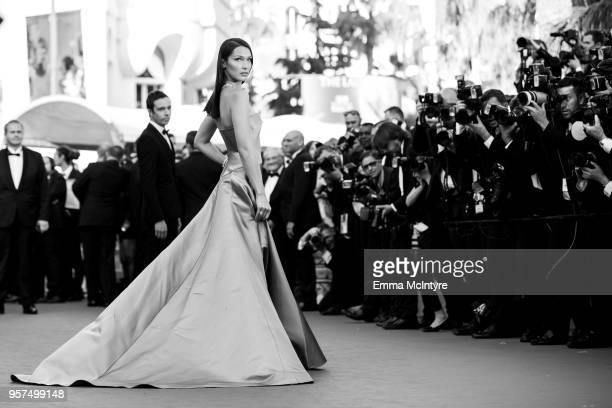 Bella Hadid attends attend the screening of 'Ash Is The Purest White ' during the 71st annual Cannes Film Festival at on May 11 2018 in Cannes France