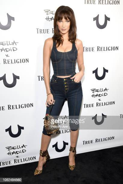 Bella Hadid attends Bella Hadid x True Religion Event Campaign Party at Poppy on October 18 2018 in Los Angeles California