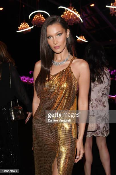 Bella Hadid attends BVLGARI Dinner Party at Stadio dei Marmi on June 28 2018 in Rome Italy