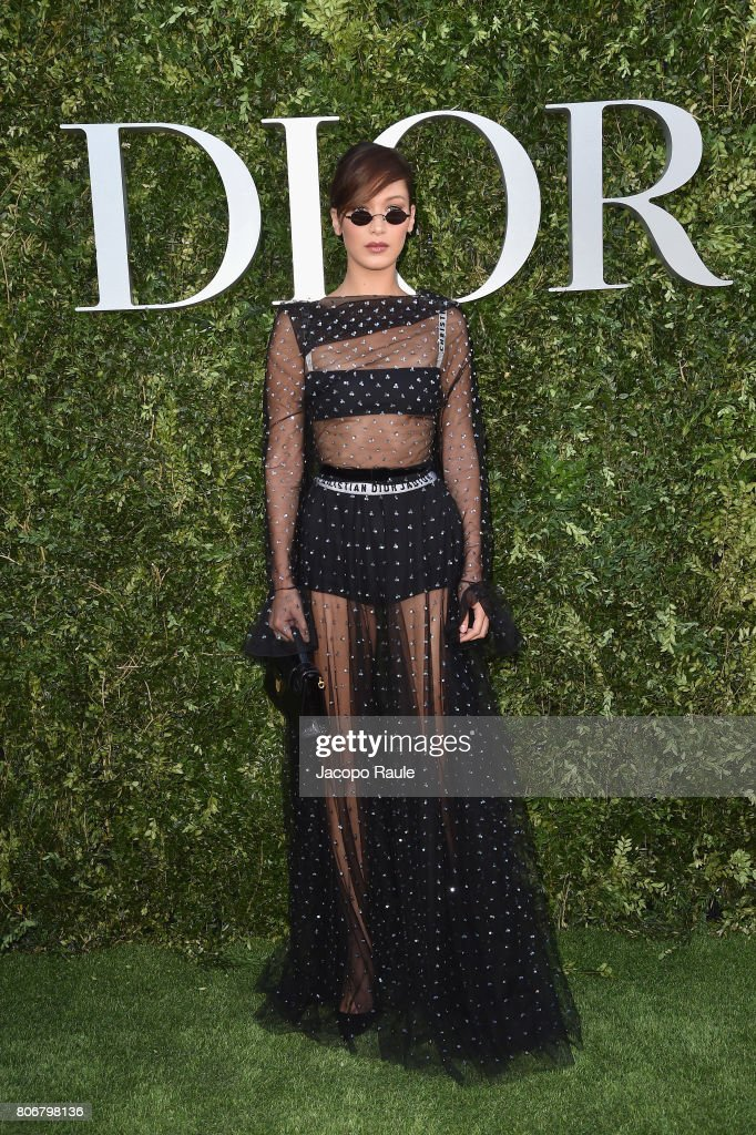 Bella Hadid attends 'Christian Dior, couturier du reve' Exhibition Launch celebrating 70 years of creation at Musee Des Arts Decoratifs on July 3, 2017 in Paris, France.