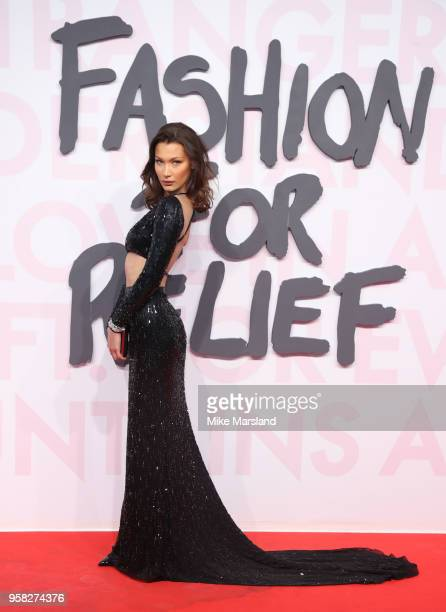Bella Hadid attends Fashion For Relief Cannes 2018 during the 71st annual Cannes Film Festival at Aeroport Cannes Mandelieu on May 13 2018 in Cannes...