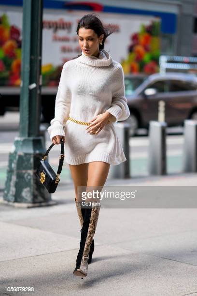 Bella Hadid attends fittings for the 2018 Victoria's Secret Fashion Show in Midtown on November 3 2018 in New York City
